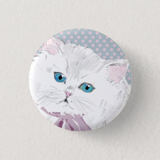 lovely kitty runder button 2,5 cm