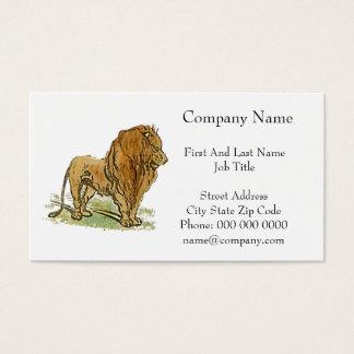 Löwe-afrikanische Katzen-goldener Mähnen-Cartoon Visitenkarte