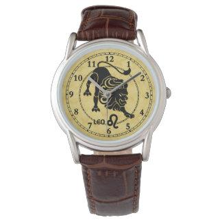 Löwe-aller Tierkreis schreibt moderne Uhr