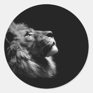 Löwe-Aufkleber Runder Aufkleber