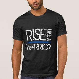 """LÖWE """"Aufstieg wie ein Krieger"""" dünnes Blue Line T-Shirt"""