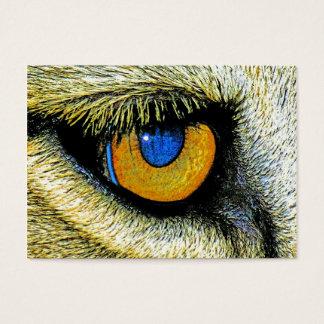 Löwe-Auge nahes oben (2) Visitenkarte
