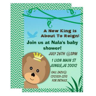 Löwe-Babypartyeinladung des Dschungels Karte
