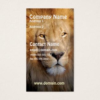 Löwe-Bild-Visitenkarte Visitenkarten