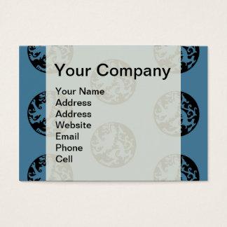 Löwe blauer und schwarzer Logo-Abzeichen Celtic Visitenkarte