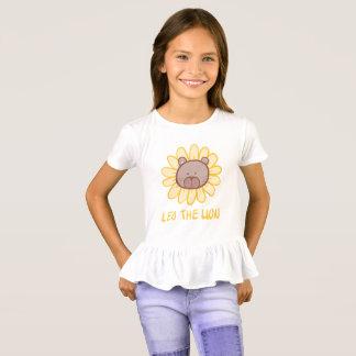 Löwe der Löwe - die Rüsche-T - Shirt des Mädchens