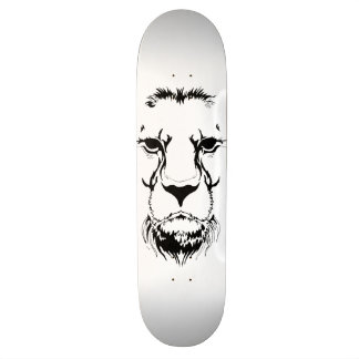 Löwe-Gesicht Bedrucktes Skateboard