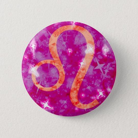 Löwe-Glitter und funkelnd Knopf der Sterne Runder Button 5,7 Cm