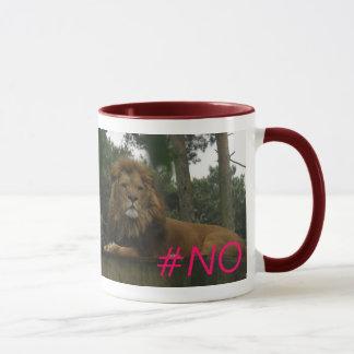 Löwe Hashtag #no Wecker-Tasse Tasse