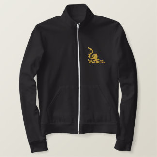 Löwe heraldisch bestickte jacke