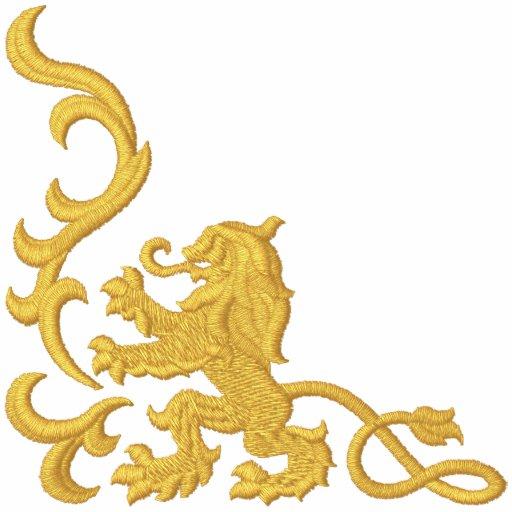 Löwe heraldisch bestickte freizeitjacke