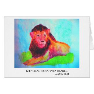 Löwe-Herz - wildes Tier-Erhaltung John Muir Karte
