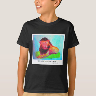 Löwe-Herz - wildes Tier-Erhaltung John Muir T-Shirt