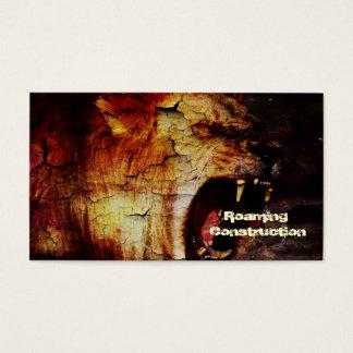 Löwe-Horoskopsafari wildes Tier-Afrikaner-Löwe Visitenkarte