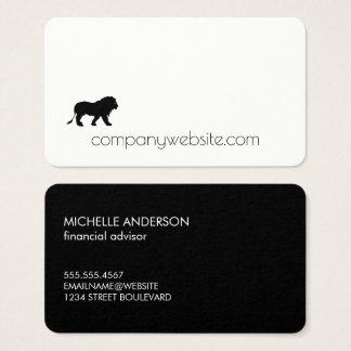 Löwe-Ikone/Finanzierung Visitenkarte