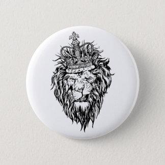 Löwe in der Krone Runder Button 5,1 Cm