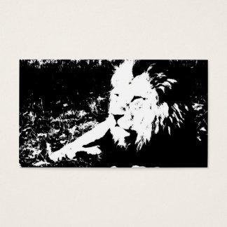 Löwe in Schwarzweiss Visitenkarte