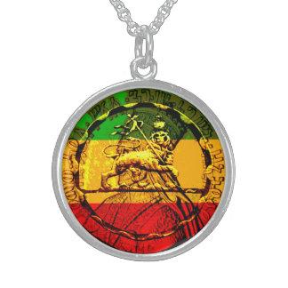 Löwe Judah hängenden Silbers überzogen und des Sterlingsilber Halsketten
