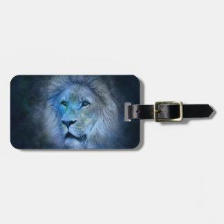 Löwe-König Gepäckanhänger mit Lederband