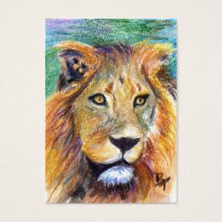 Löwe-Porträt ACEO ArtCard Jumbo-Visitenkarten