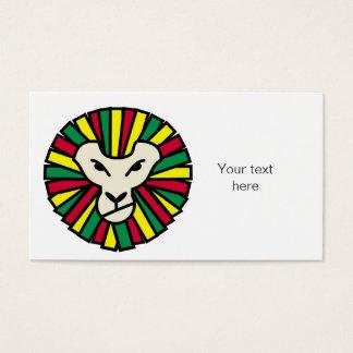 Löwe-Rastafari farbige Mähne Visitenkarte