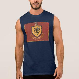 Löwe-Schild-Wappen Schmutz-Entwurf Ärmelloses Shirt