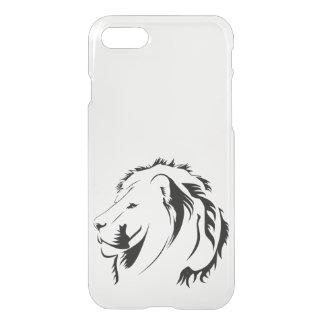 Löwe Stammes- iPhone 7 Clearly™ Ablenker-Kasten iPhone 8/7 Hülle
