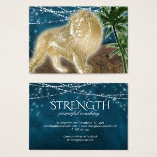 Löwe-Stärken-Power-Felsen coachte Fitness-Tier Visitenkarte