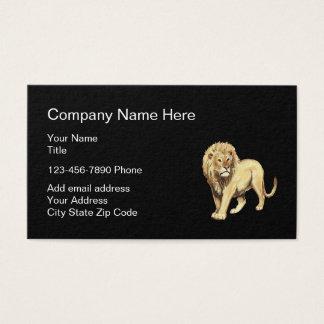 Löwe-Symbol-übersichtliches Design Visitenkarte