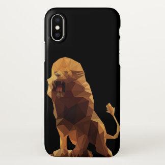 Löwe-Telefon-Kasten iPhone X Hülle