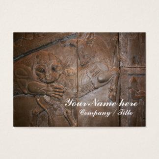 Löwe u. Stier: Persisches Flachrelief Jumbo-Visitenkarten