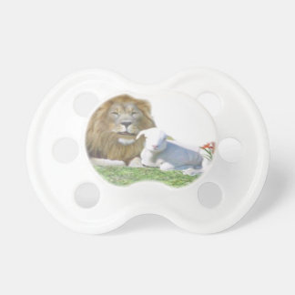 Löwe und die christliche Kunst des Lamms Schnuller