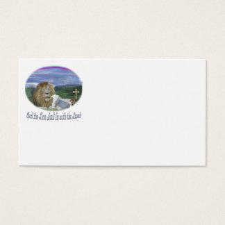 Löwe und die christlichen Geschenke des Lamms Visitenkarte