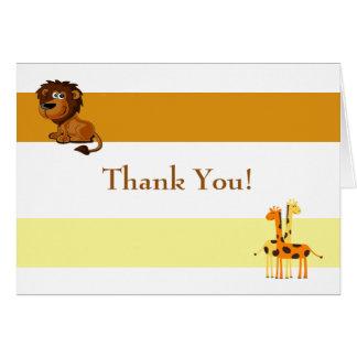 Löwe und Giraffen danken Ihnen Karte