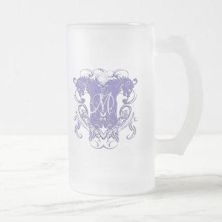 Löwe-zügellose Renaissance-Hochzeit Mattglas Bierglas