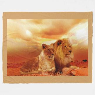 Löwen Fleecedecke