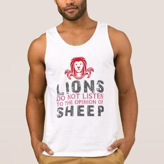 Löwen hören nicht zur Meinung der Schafe Tank Top