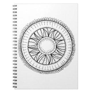 Löwenzahn-Blume Mandala Notizblock