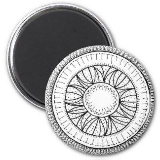 Löwenzahn-Blume Mandala Runder Magnet 5,1 Cm