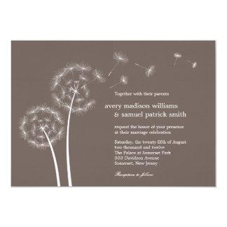 Löwenzahn-Frühlings-Hochzeits-Einladung 12,7 X 17,8 Cm Einladungskarte