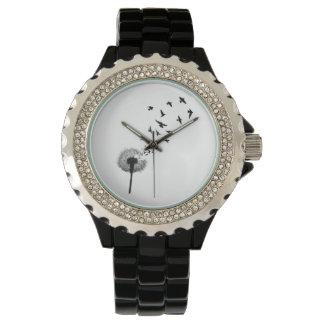 Löwenzahn-Vogel-Uhr Uhr