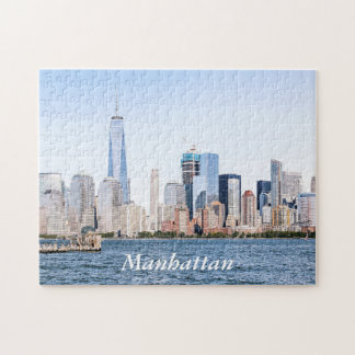 Lower Manhattan-Farbskizze-Puzzlespiel