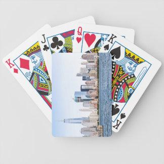 Lower Manhattan-Skyline-Spielkarten Bicycle Spielkarten