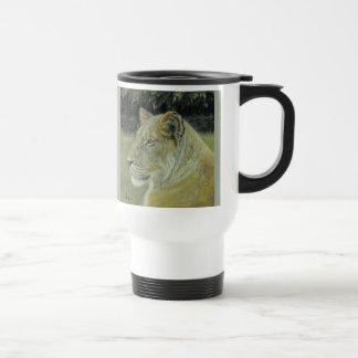 Löwin-Pendler-Reise-Tasse Reisebecher