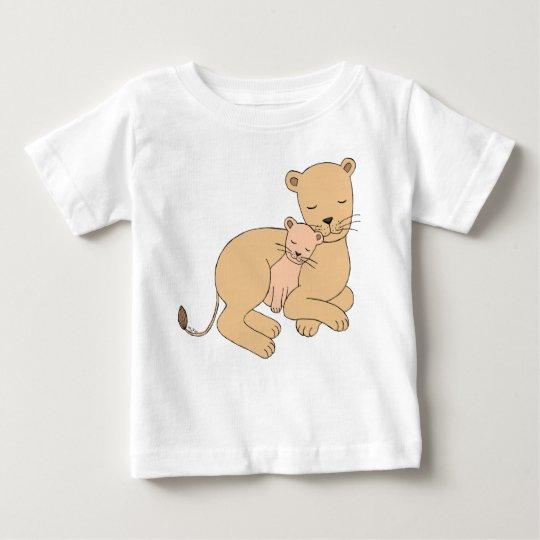 Löwin-und Junges niedlicher Löwe-Mamma-Baby-T - Baby T-shirt