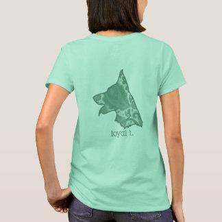 Loyaler t-Marken-T - Shirt - Grün