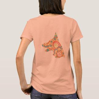 Loyaler t-Marken-T - Shirt - Pfirsich