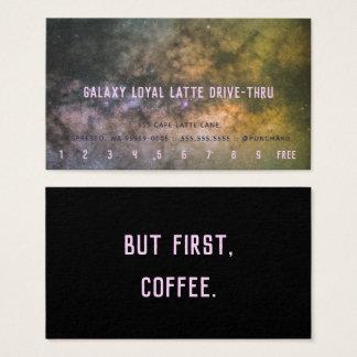 Loyalität Latte Antrieb-Durch Visitenkarte