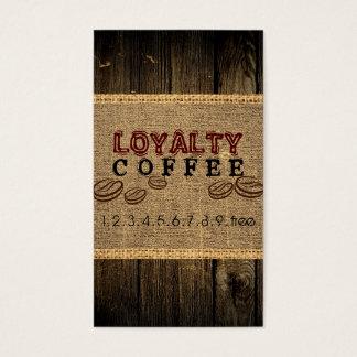 Loyalitäts-Kaffee-Durchschlag Visitenkarte