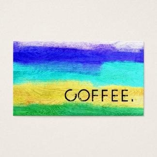 Loyalitäts-Kaffee-Durchschlags-bunter moderner Visitenkarten